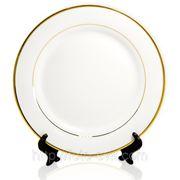 Тарелка для нанесения фото с золотым ободком фото