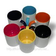 Печать на цветных чашках.