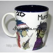 Керамическая фото чашка с нанесением изображения, цветная внутри фото