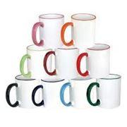 Печать на чашках. Фото на чашках (цветная ручка и ободок) фото