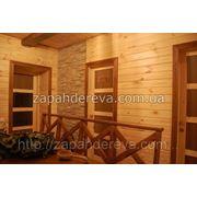 Отделка балконов - материалы из дерева, канат фото
