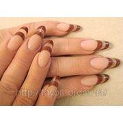 Наращивание ногтей на форму фото