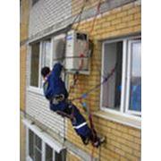 Монтаж систем вентиляции и кондиционеров. фото