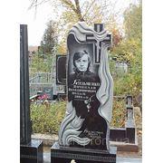 Памятник из цветного гранита Котовск Эконом памятник Башня с профильной резкой Похвистнево