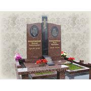 Памятники для двоих из гранита (букинское габро, лезники) (Образцы №454) фото
