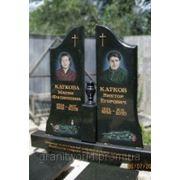 Памятники из гранита двойные габбро (Образцы №427) фото