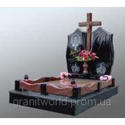 Цоколь резной из габбро-диабаза Терек как поставить памятник и цветник на могилу