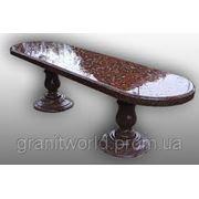 Гранитные столы лавки (Образец 600) фото