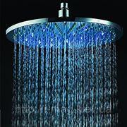 Верхний душ со светодиодной led подсветкой с температурным датчиком 20 см диаметр фото