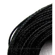 Шнурок из натуральной кожи,плетенка d-3мм фото