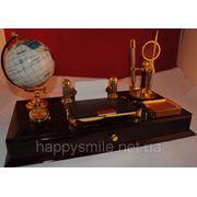Офисный набор, деловой подарок из лакированного дерева, отличный подарок шефу фото