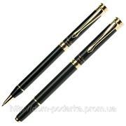 """Набор: шариковая ручка и роллер """"Pierre Cordin"""" черного цвета фото"""