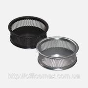 Металлическая подставка для скрепок, стаканчик круглый маленький, цвет черный