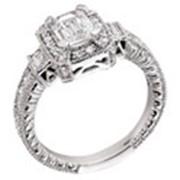 Помолвочные кольца с бриллиантами фото