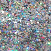 Глиттер голографический серебро-5 грамм-1 мм фото