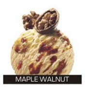 Мороженое с карамелизированными орехами и кленовым сиропом фото