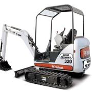 Прокат мини-экскаватора Bobcat 320 фото