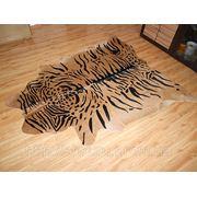 Интерьерная шкура коровы шкура тигра беж фото