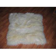 Ковер кусковой сшитый (материал шкура овцы) 1*0,9 м. фото