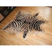 Шкура коровы стилизированая «шкура зебры бежевая « фото