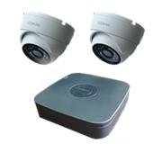 """Комплект видеонаблюдения """"Zodikam Combo Dome 2 POE"""" (2 IP камеры+регистратор) фото"""