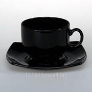Чайная пара Квадрат-черный 160мл фото