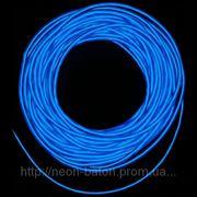 Холодный неон / электролюминисцетный провод 3-го поколения 5 мм, синий (розница, опт) фото