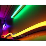 Холодный неон / электролюминисцетный провод 1-го поколения 5 мм, желтый фото