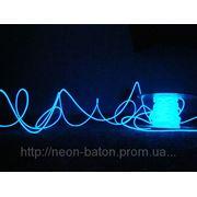 Холодный неон / электролюминисцетный провод 1-го поколения 5 мм, синий фото