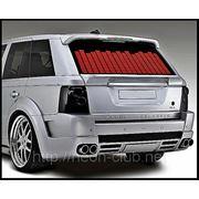 Красный Авто эквалайзер / автоэквалайзер на заднее стекла автомобиля, размером 90*25 см фото
