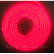 Холодный неон / электролюминисцетный провод 1-го поколения 5 мм, красный фото