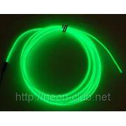 Холодный неон / электролюминисцетный провод 3-го поколения 2,6 мм, лайм (розница, опт) фото