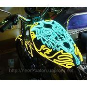 Подсветка мотоцикла Холодным неом - Светящимся проводом диаметром 2,3 мм любого цвета тюнинг мотоцикла фото