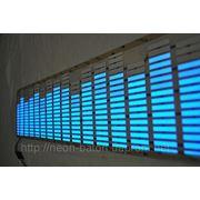 Неоновый эквалайзер синий размером 90 на 25 см фото