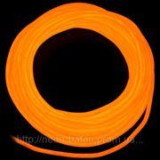 Холодный неон / электролюминисцетный провод 3-го поколения 5 мм, оранжевый (розница, опт) фото