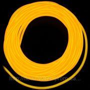 Холодный неон / электролюминисцетный провод 3-го поколения 5 мм, желтый (розница, опт) фото