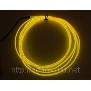 Холодный неон / электролюминисцетный провод 3-го поколения 2,6 мм, желтый (розница, опт) фото