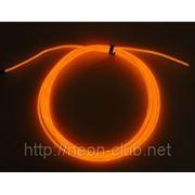 Холодный неон / электролюминисцетный провод 3-го поколения 2,6 мм, оранжевый (розница, опт) фото