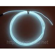 Холодный неон / электролюминисцетный провод 3-го поколения 2,6 мм, белый (розница, опт) фото