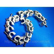 Скобы ( клипсы ) с гвоздём 6 mm круглые для крепления провода и кабеля - ISO 9001 фото