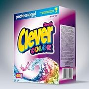 Бесфосфатный концентрований стиральный порошок премиум класса для цветного белья Clever Titanium Color фото