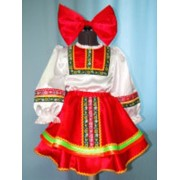 Костюм плясовой (девочка, красный) фото