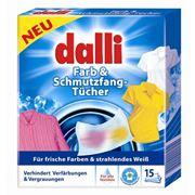 Dalli Farb und Schmutzfang-Tucher. Платки-ловушки для предотвращения нежелательной окраски белья во время стирки фото