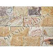 Фасадная плитка из сланца Вишня фото