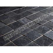 Тротуарный камень антрацит (черный) фото