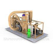 Мобильный брикетный завод 400 кг/час с ударно-механическим прессом C.F. Nielsen