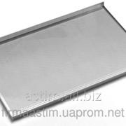 Противень для выпечки - с трёхсторонней обортовкой, алюминия, 600x400 мм - перфорированный 808214 фото