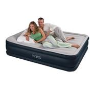 Надувная кровать Rising Comfort 157х203х48 см, с встроенным насосом 220 В фото