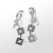 Серьги с бриллиантами E19511-3 фото