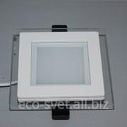 Встраиваемый светильник со стеклом 6 Вт 00047 фото